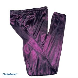 Fashion Shiny plum Tights leggings